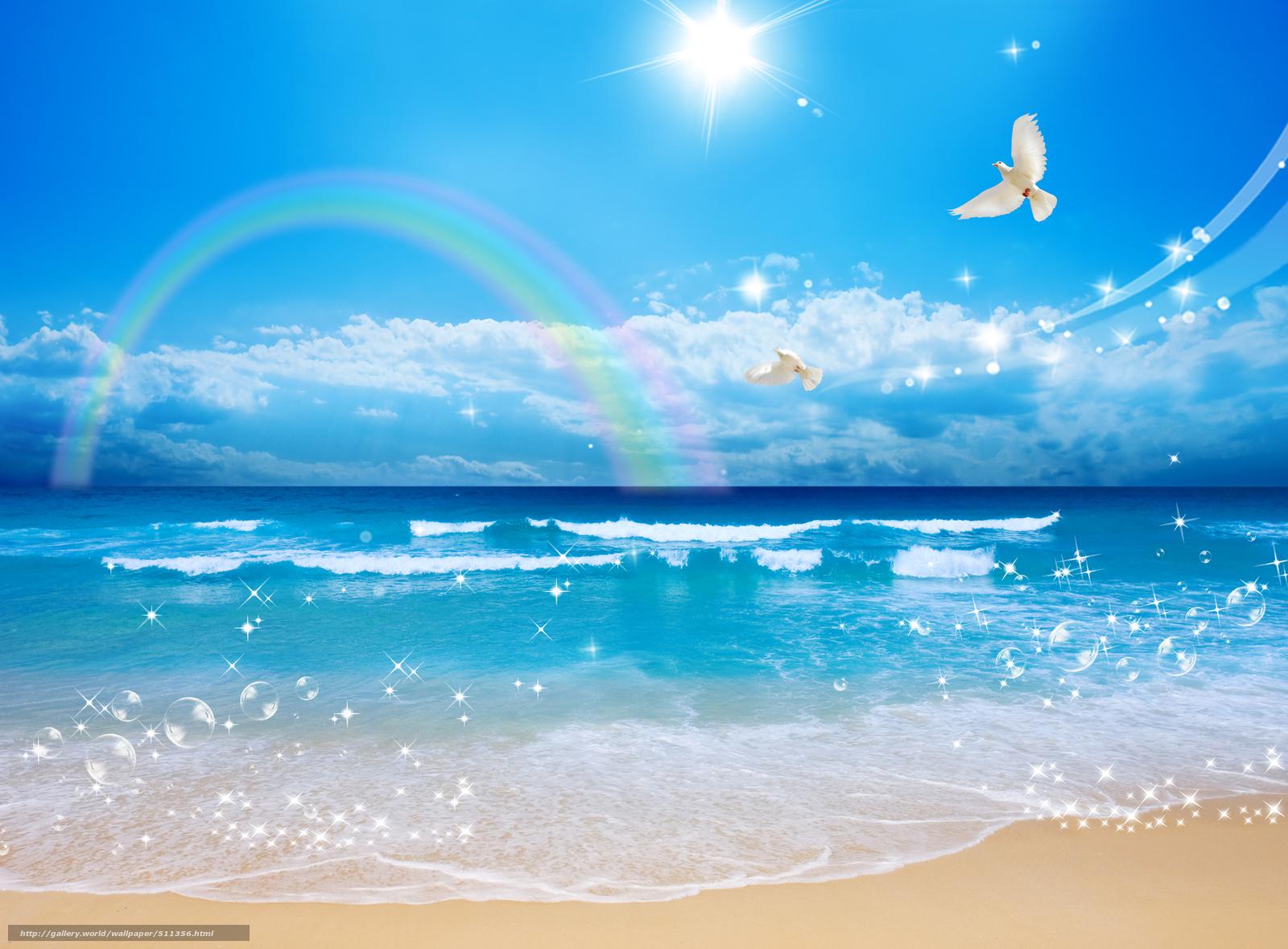 Скачать обои пейзаж,  море,  волны,  красота бесплатно для рабочего стола в разрешении 3800x2800 — картинка №511356