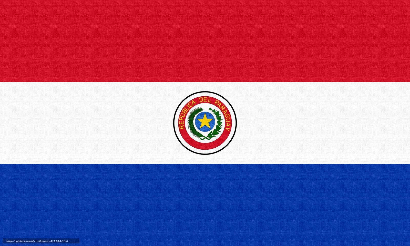 scaricare gli sfondi Paraguay,  bandiera Sfondi gratis per la risoluzione del desktop 2560x1536 — immagine №511555