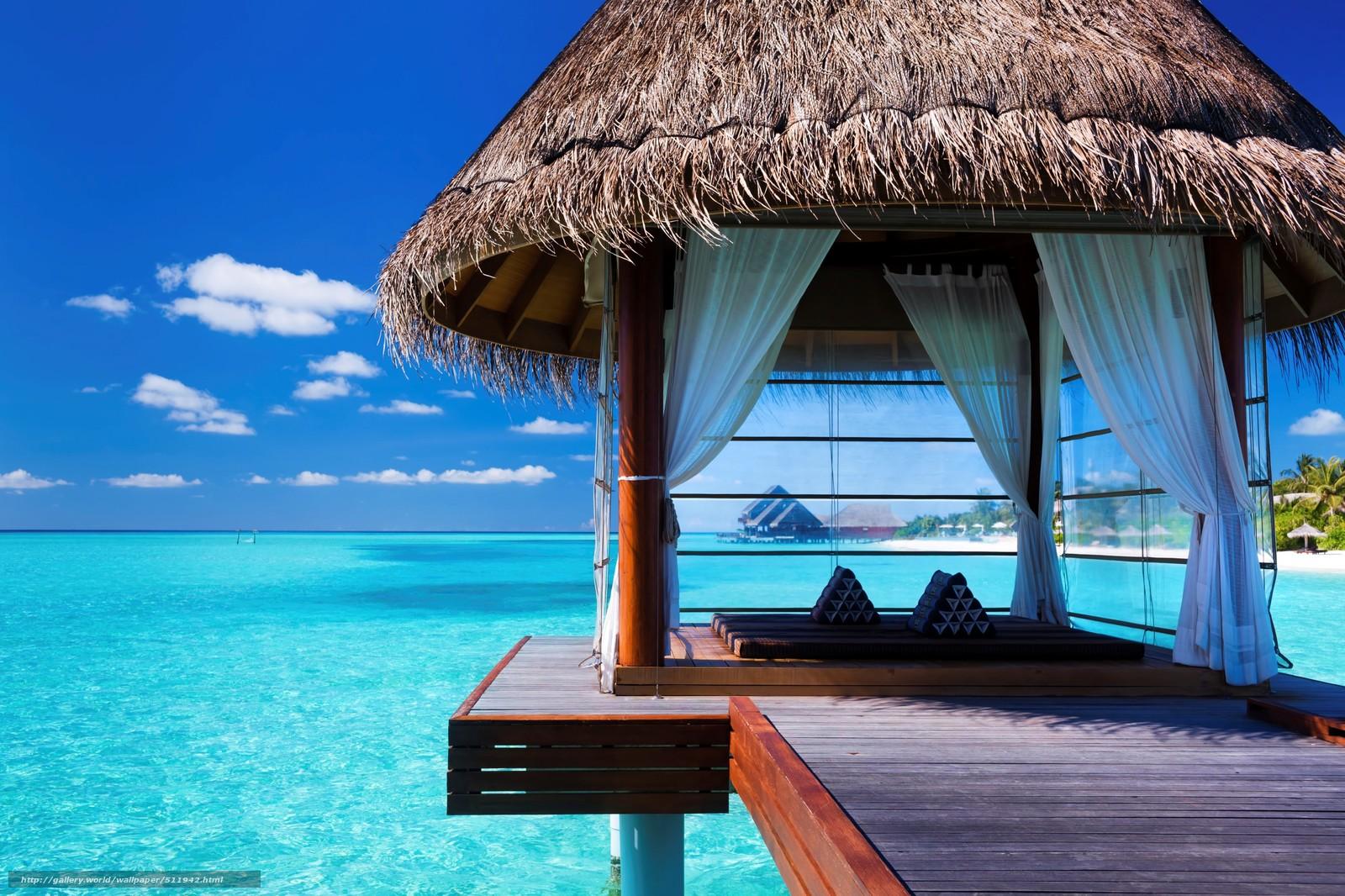 Descargar gratis Maldivas,  trpicos,  cenador Fondos de escritorio en la resolucin 2716x1810 — imagen №511942