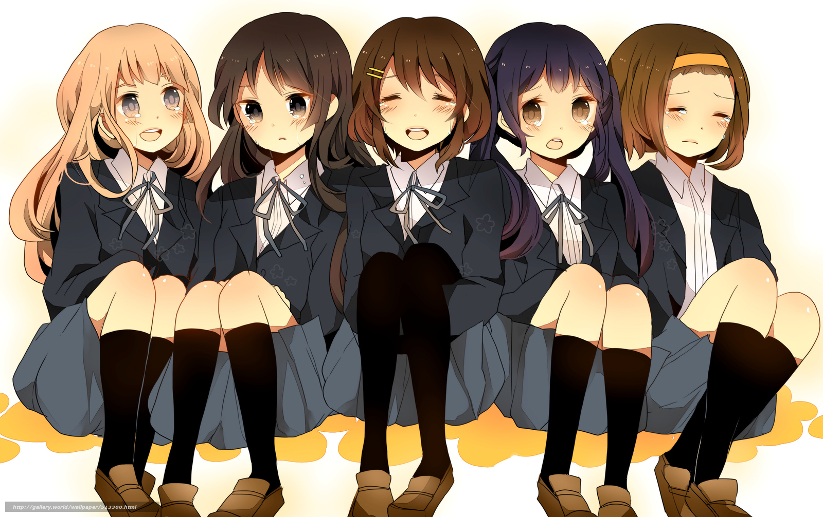 Download Wallpaper Schoolgirls Art Anime Group Free