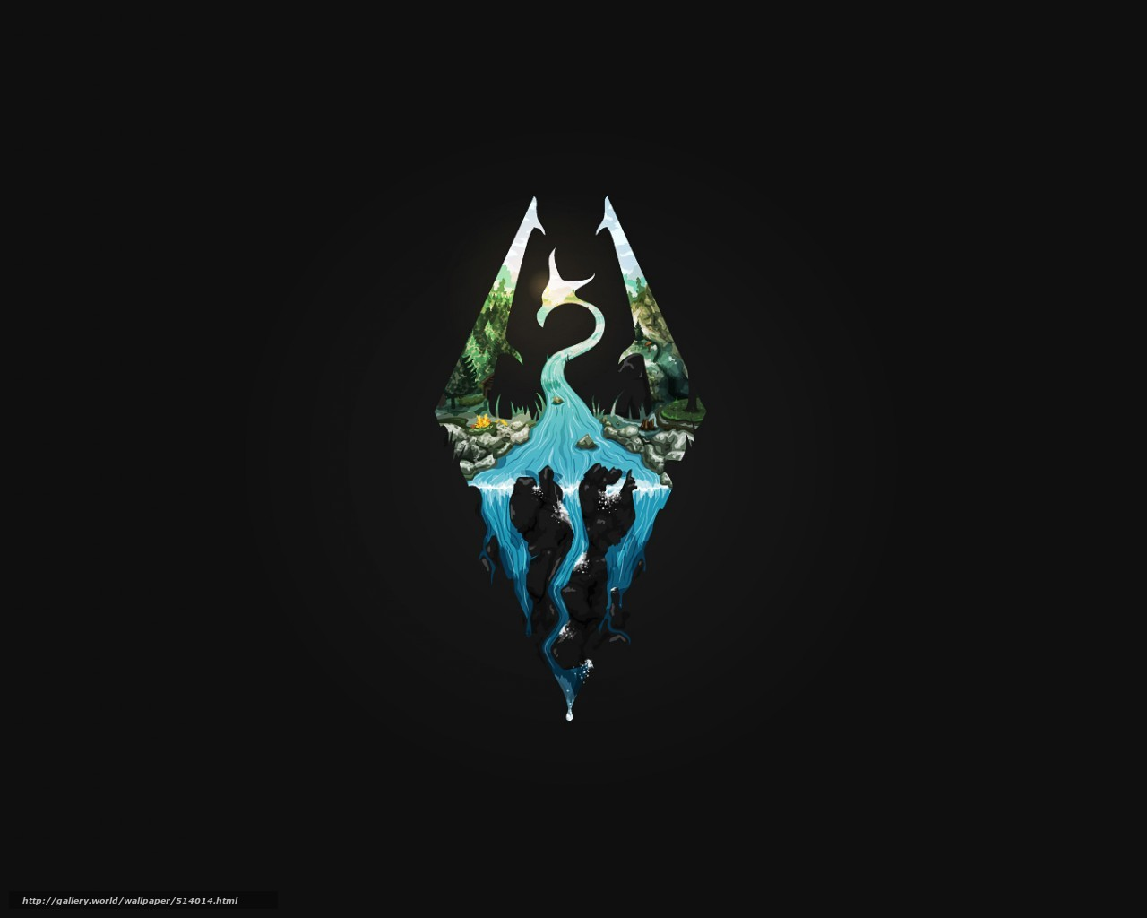 download wallpaper skyrim, dovakin, elder scrolls free desktop