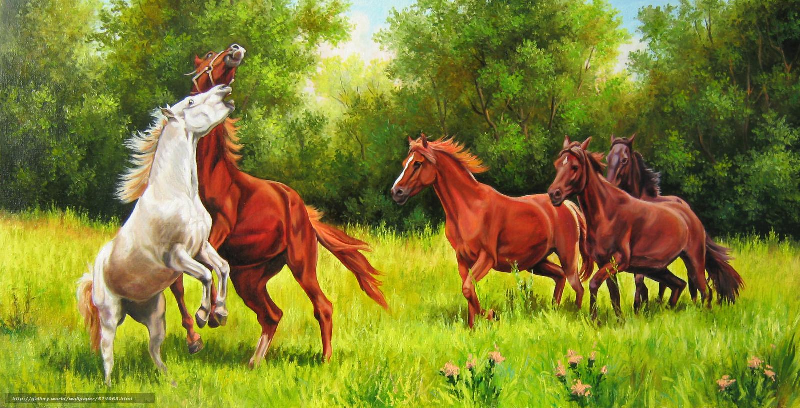 peinture chevaux wallpaper - photo #7
