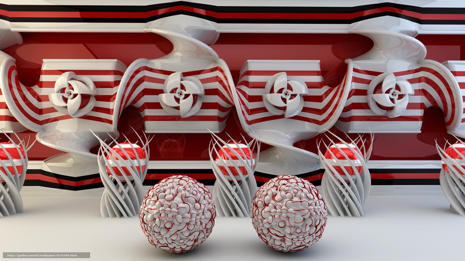 Descargar gratis fractales primas,  3d,  arte Fondos de escritorio en la resolucin 2500x1406 — imagen №514209