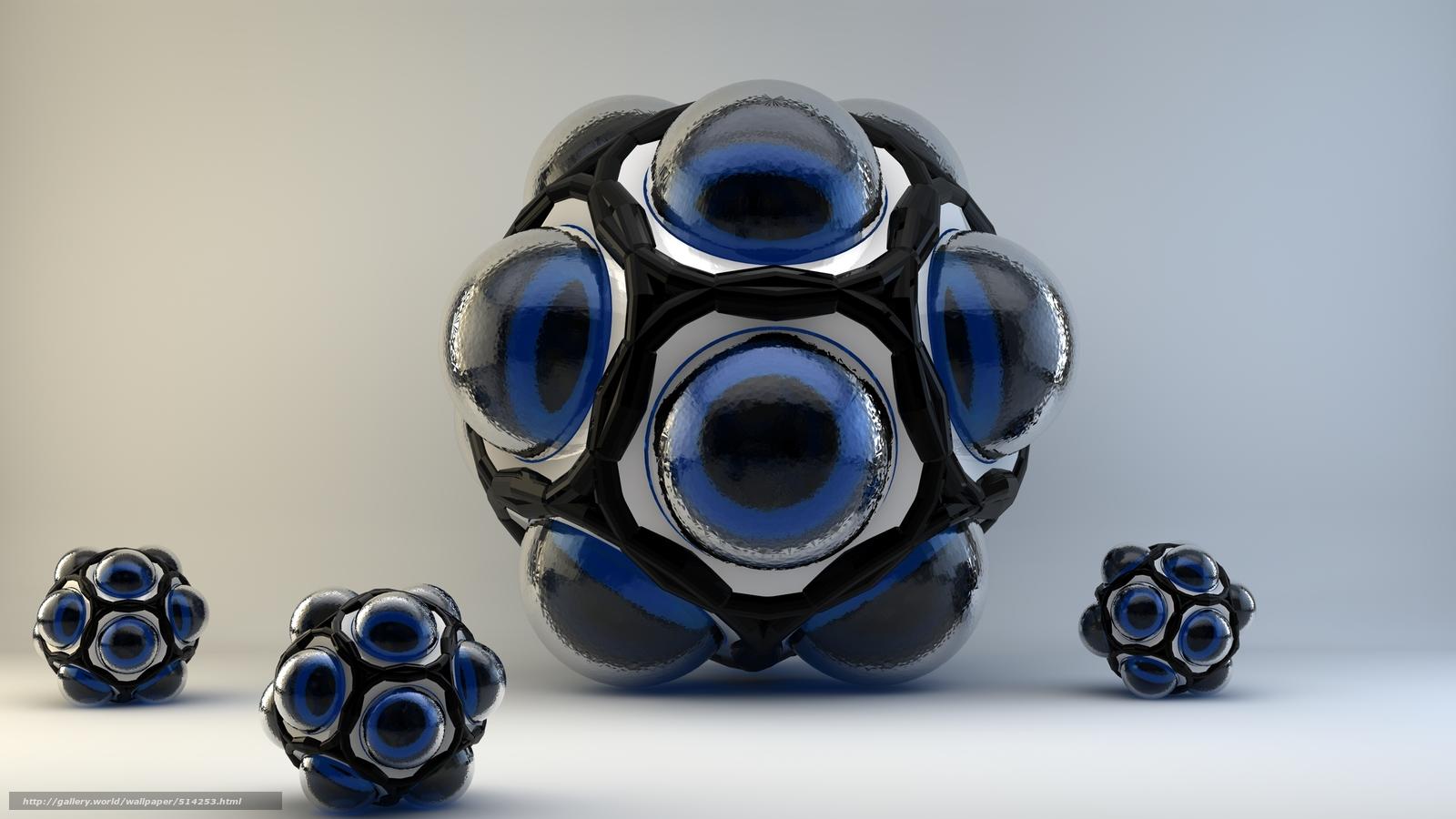 Descargar gratis fractales primas,  3d,  arte Fondos de escritorio en la resolucin 2500x1406 — imagen №514253
