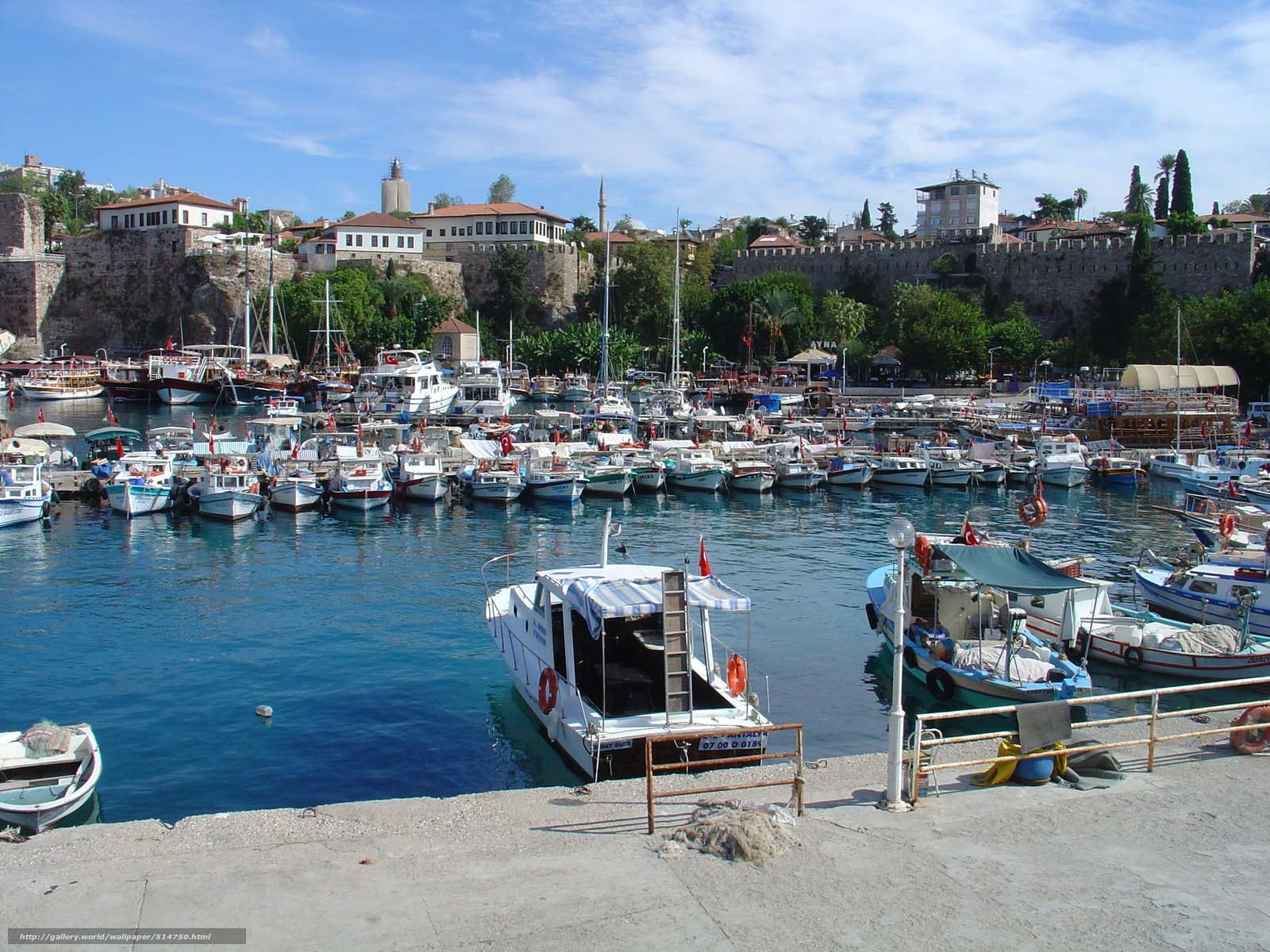 Download wallpaper boats,  Antalya,  wharf free desktop wallpaper in the resolution 2592x1944 — picture №514750