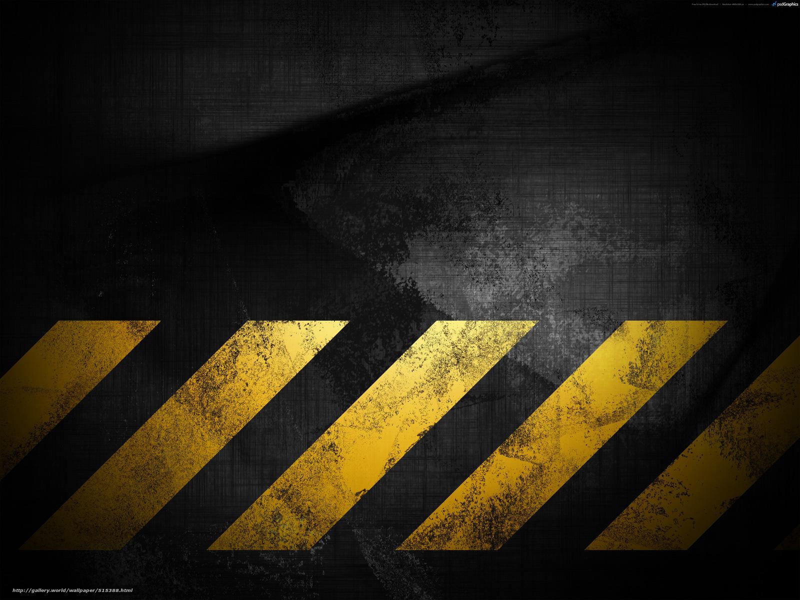 scaricare gli sfondi Grunge,  sfondo nero,  struttura,  strisce gialle Sfondi gratis per la risoluzione del desktop 4000x3000 — immagine №515388