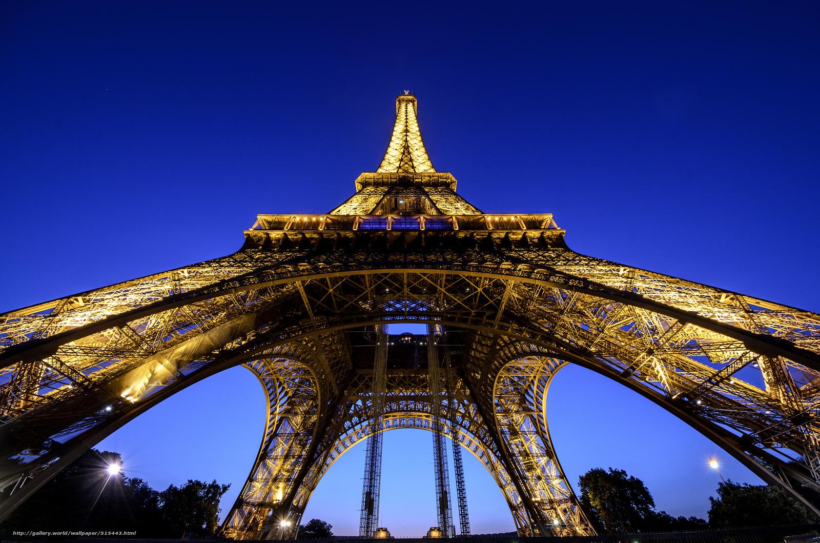 Download Wallpaper Eiffel Tower Paris Lighting Evening Free Desktop Wallpaper In The Resolution 2048x1356 Picture 515443