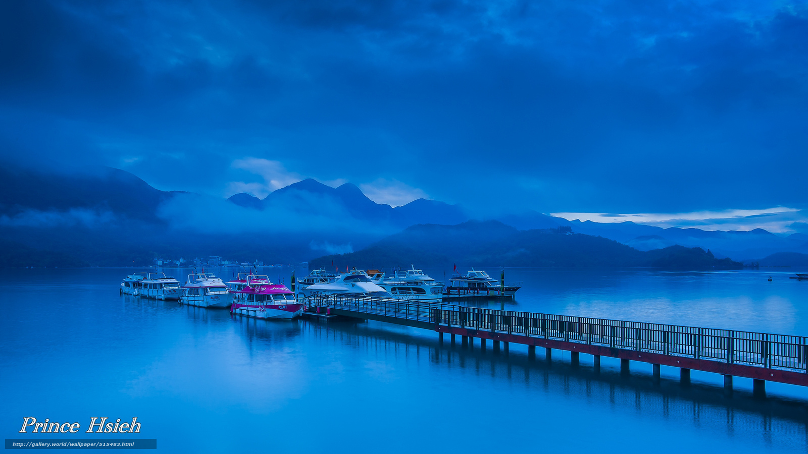 Download wallpaper prince hsieh,  Mountains,  clouds,  fog free desktop wallpaper in the resolution 2048x1152 — picture №515483