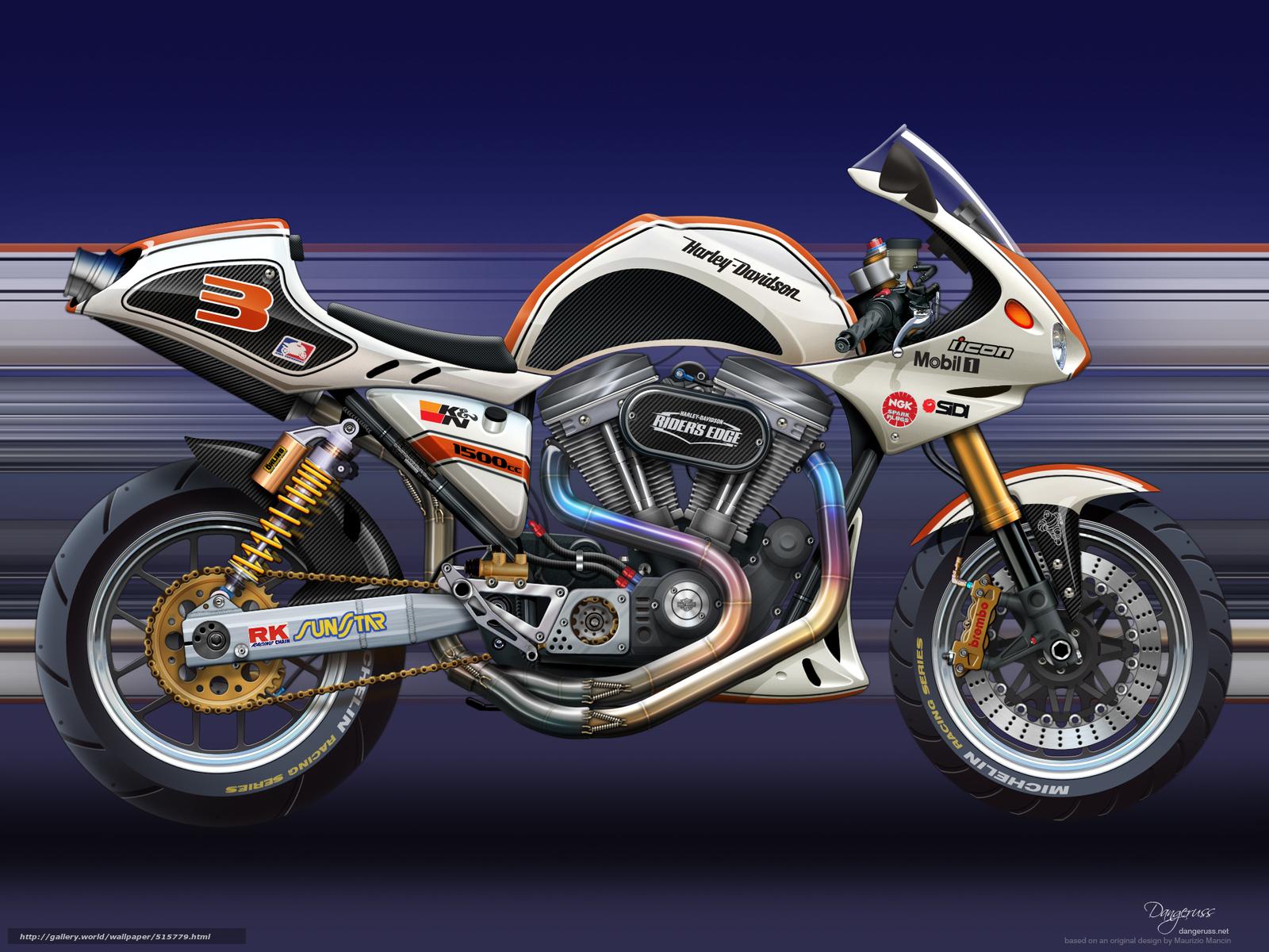 scaricare gli sfondi motocicli,  Arte,  Harley,  sport bici Sfondi gratis per la risoluzione del desktop 2000x1500 — immagine №515779