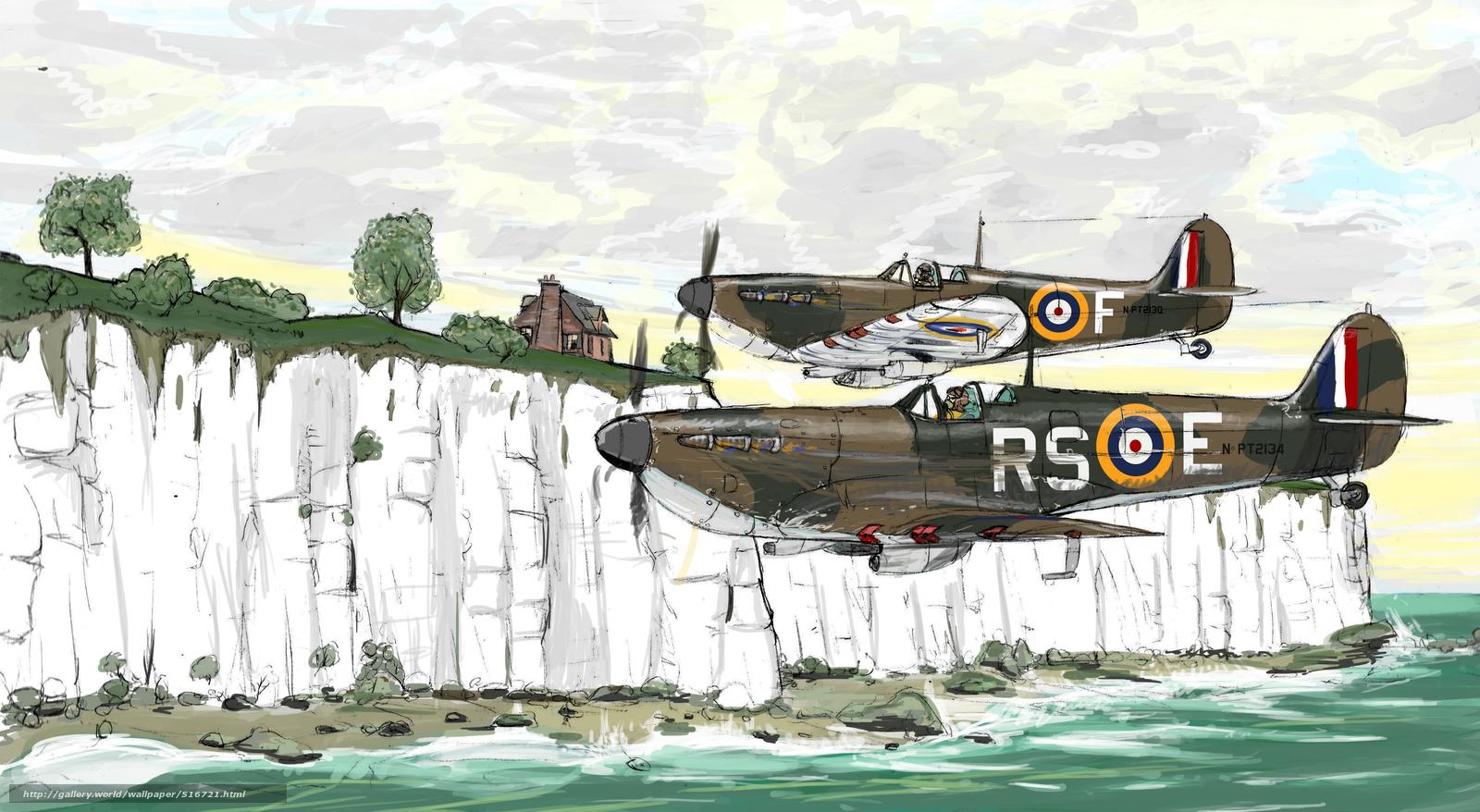 Скачать обои рисунок,  авиация,  самолёты,  британские бесплатно для рабочего стола в разрешении 3509x1926 — картинка №516721