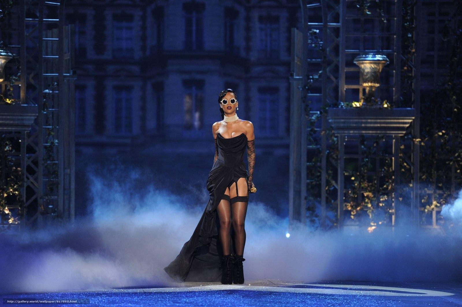 Download wallpaper Rihanna,  glasses,  singer,  speech free desktop wallpaper in the resolution 2560x1703 — picture №517353