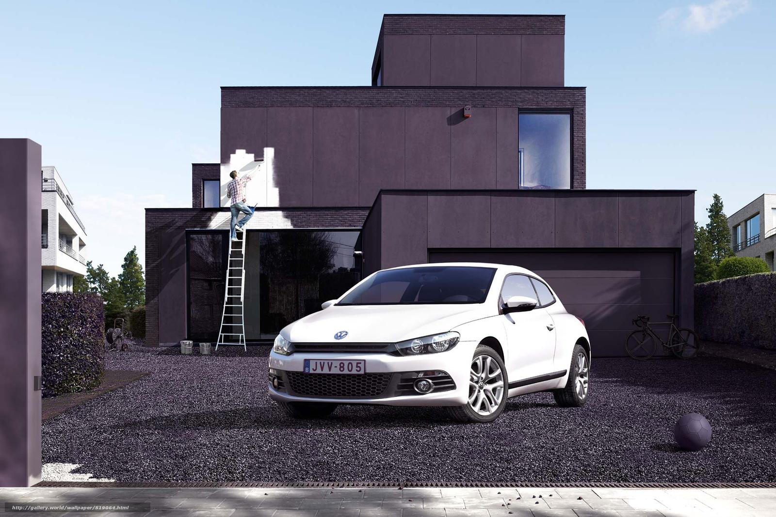 scaricare gli sfondi auto,  cantiere,  Volkswagen,  dipingere Sfondi gratis per la risoluzione del desktop 1920x1280 — immagine №519064