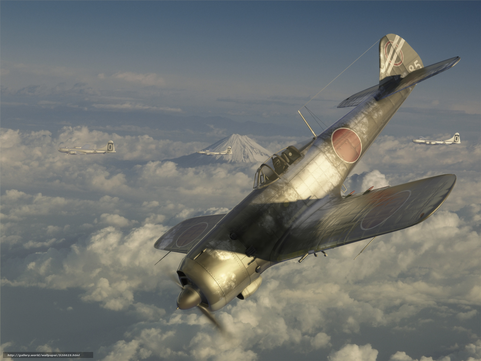 Скачать обои арт,  самолеты,  в небе,  полет бесплатно для рабочего стола в разрешении 2500x1875 — картинка №520025