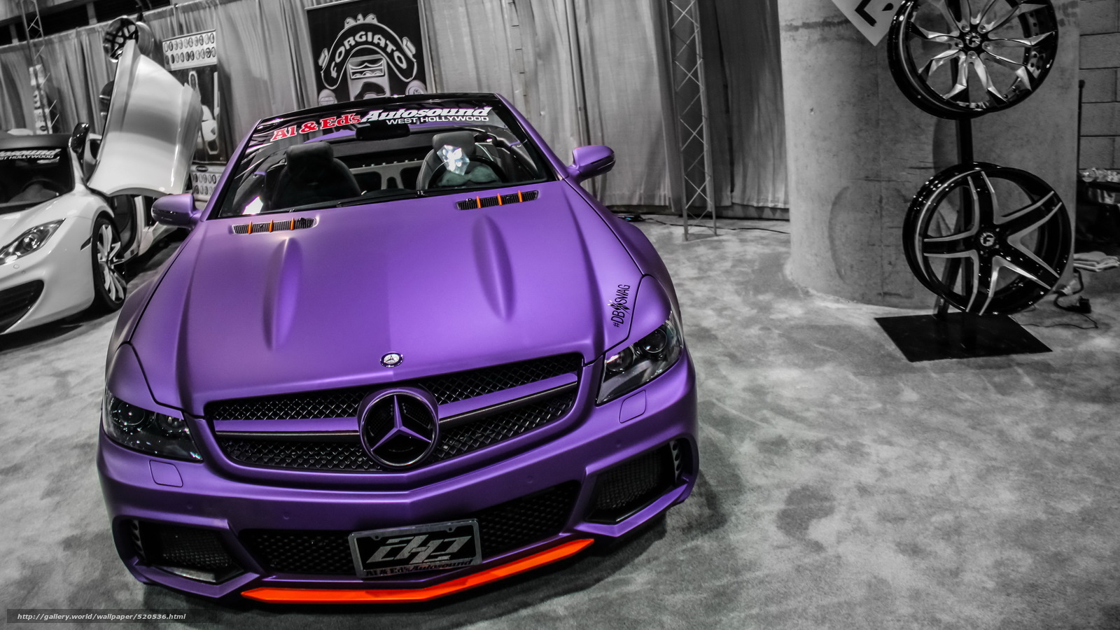 Download wallpaper mercedes,  Tuning,  Cabriolet,  purple free desktop wallpaper in the resolution 4752x2673 — picture №520536