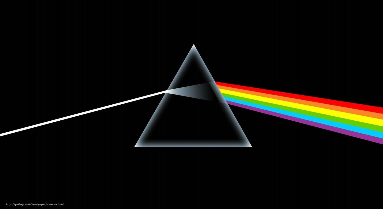 Скачать обои призма,  черное,  радуга бесплатно для рабочего стола в разрешении 1980x1080 — картинка №520839