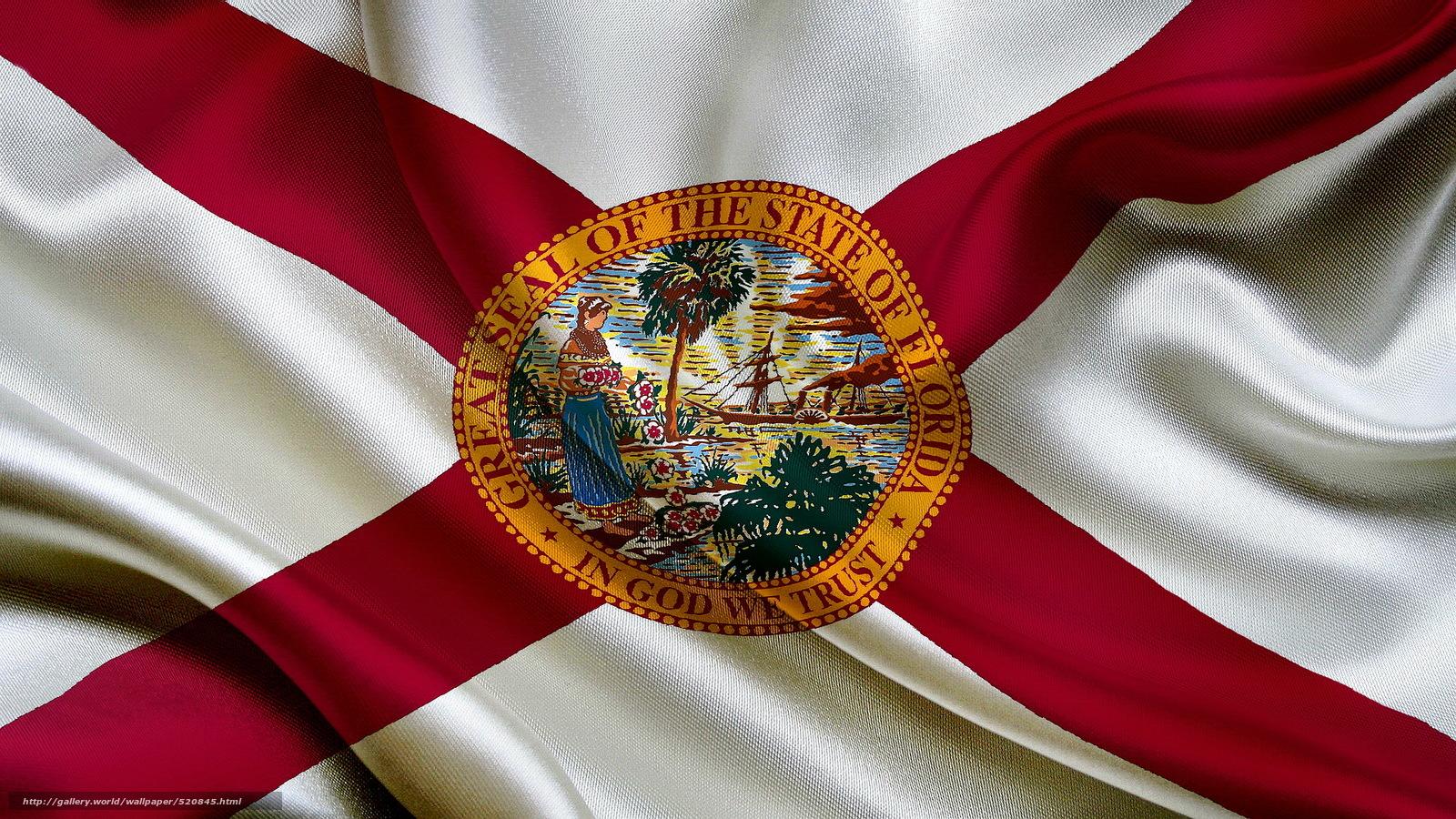 scaricare gli sfondi bandiera,  Florida State,  Bandiera della Florida Sfondi gratis per la risoluzione del desktop 1920x1080 — immagine №520845