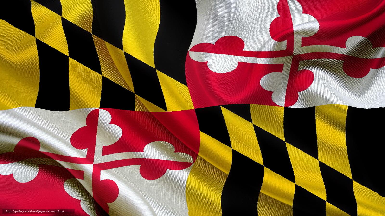 scaricare gli sfondi bandiera,  Stato,  Maryland Sfondi gratis per la risoluzione del desktop 1920x1080 — immagine №520850