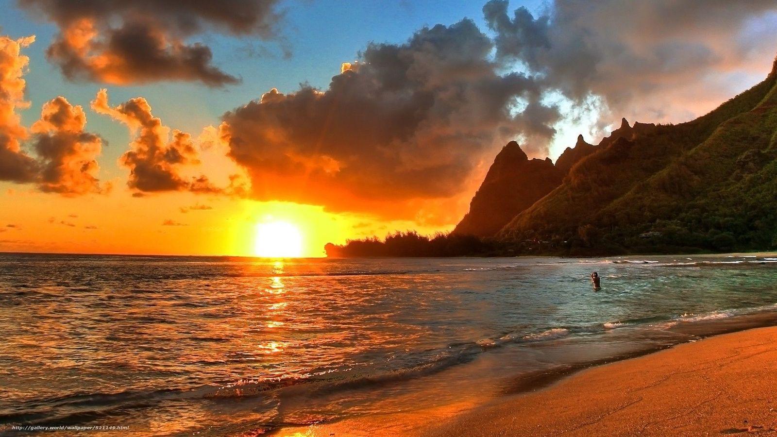 Tlcharger fond d 39 ecran mer plage coucher du soleil fonds for Immagini spettacolari per desktop
