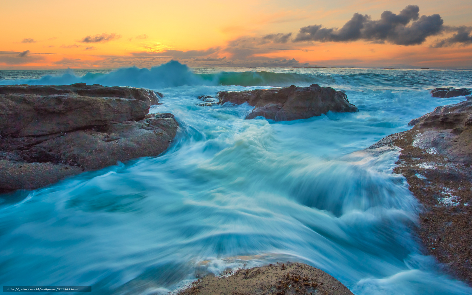 Скачать обои штат орегон,  закат,  море,  пейзаж бесплатно для рабочего стола в разрешении 3840x2400 — картинка №522585
