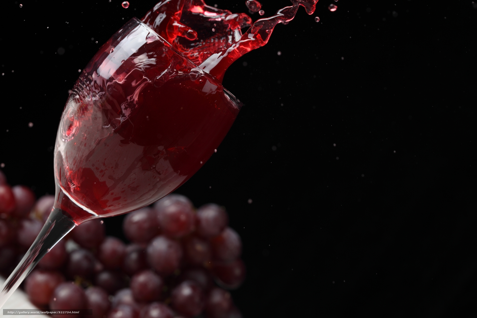 Download wallpaper wine,  red,  goblet,  grapes free desktop wallpaper in the resolution 5616x3744 — picture №522734