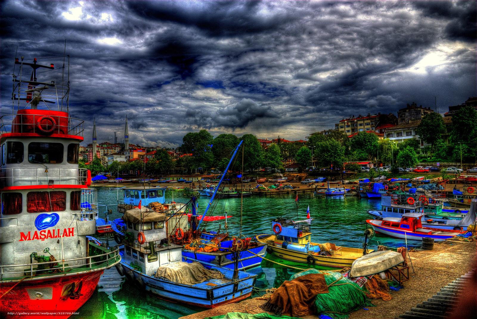 Download wallpaper duzce'nin,  Turkey,  city,  boats free desktop wallpaper in the resolution 1920x1286 — picture №525709