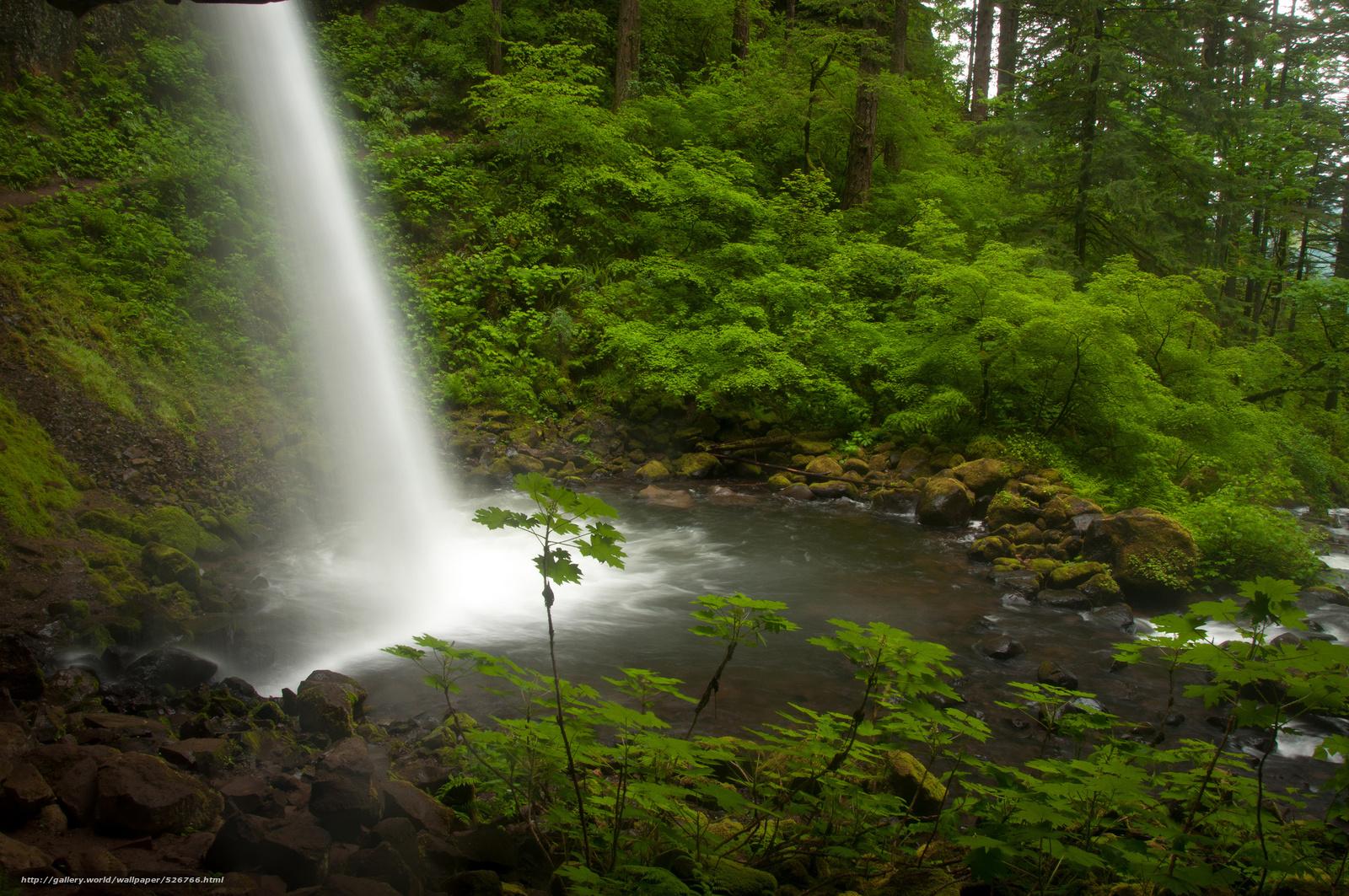 Скачать обои ponytail falls,  columbia river,  oregon,  река Колумбия бесплатно для рабочего стола в разрешении 2048x1360 — картинка №526766