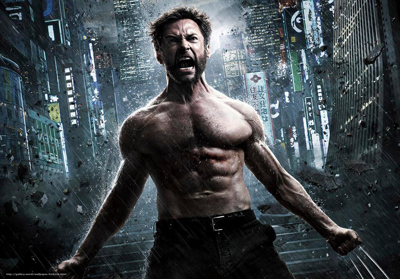 Download wallpaper Wolverine: The Immortal,  the wolverine,  Hugh Jackman,  Hugh Jackman free desktop wallpaper in the resolution 1944x1356 — picture №528226