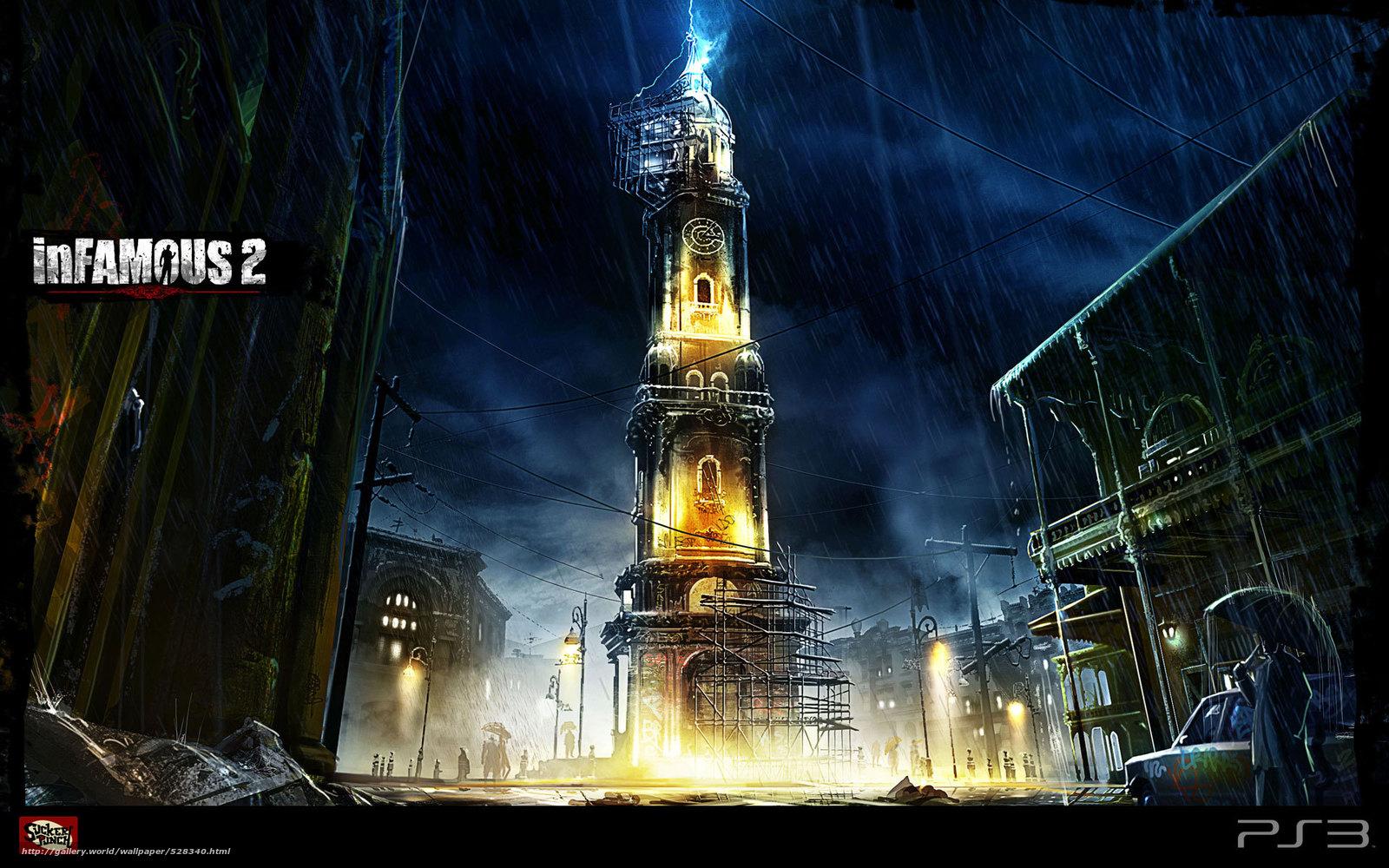 Download wallpaper watch,  rain,  lightning,  tower free desktop wallpaper in the resolution 1920x1200 — picture №528340
