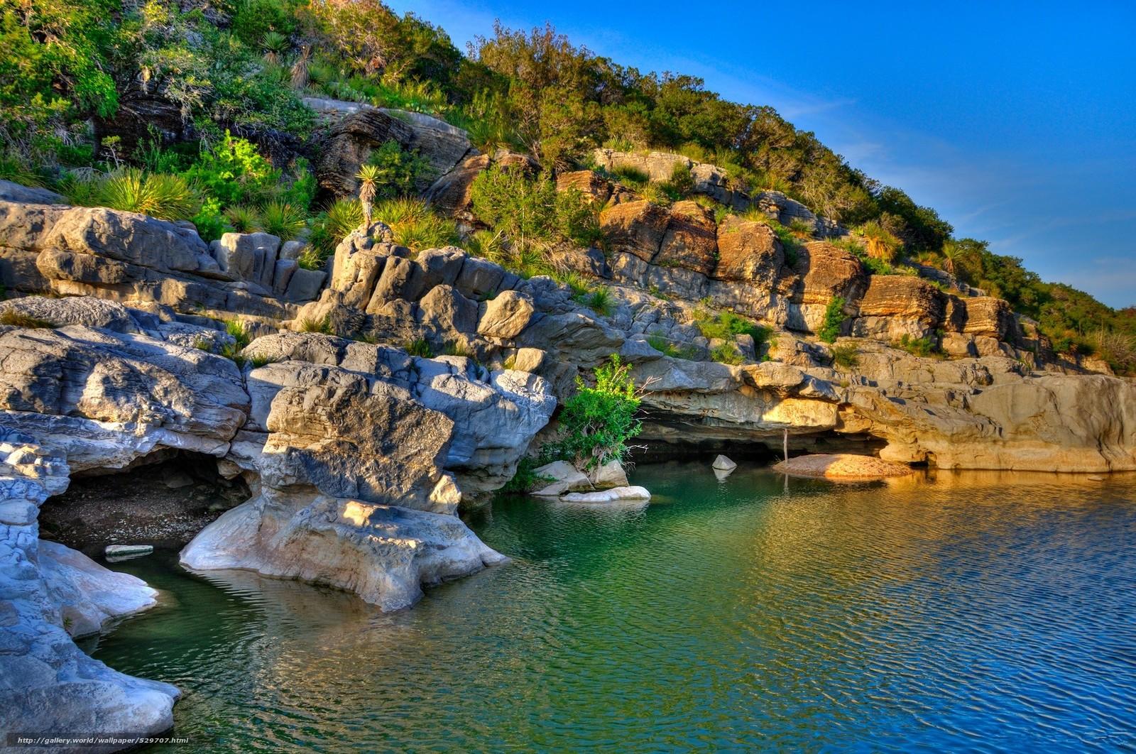 Download wallpaper pedernales falls state park,  texas,  lake,  rocks free desktop wallpaper in the resolution 2000x1327 — picture №529707
