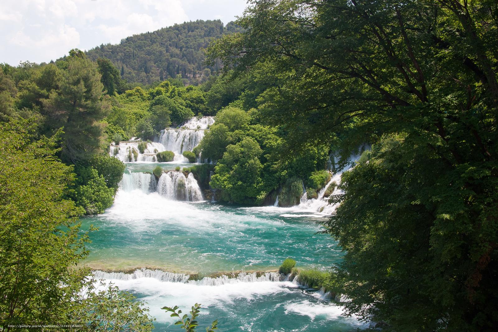 Скачать обои krka national park,  croatia,  река,  водопады бесплатно для рабочего стола в разрешении 3946x2630 — картинка №529710