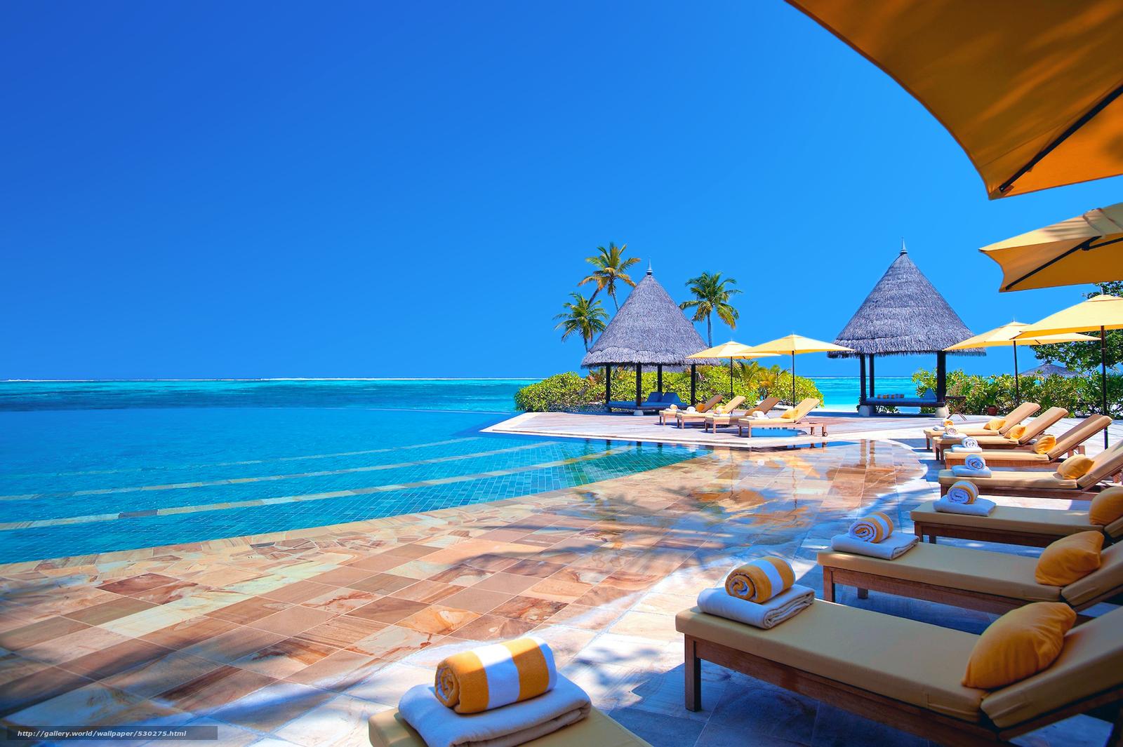 Download wallpaper Maldives,  tropics,  resort free desktop wallpaper in the resolution 1920x1278 — picture №530275