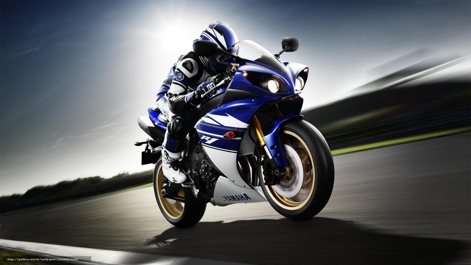 scaricare gli sfondi velocit,  Yamaha,  motociclista,  motocicli Sfondi gratis per la risoluzione del desktop 2100x1181 — immagine №530985