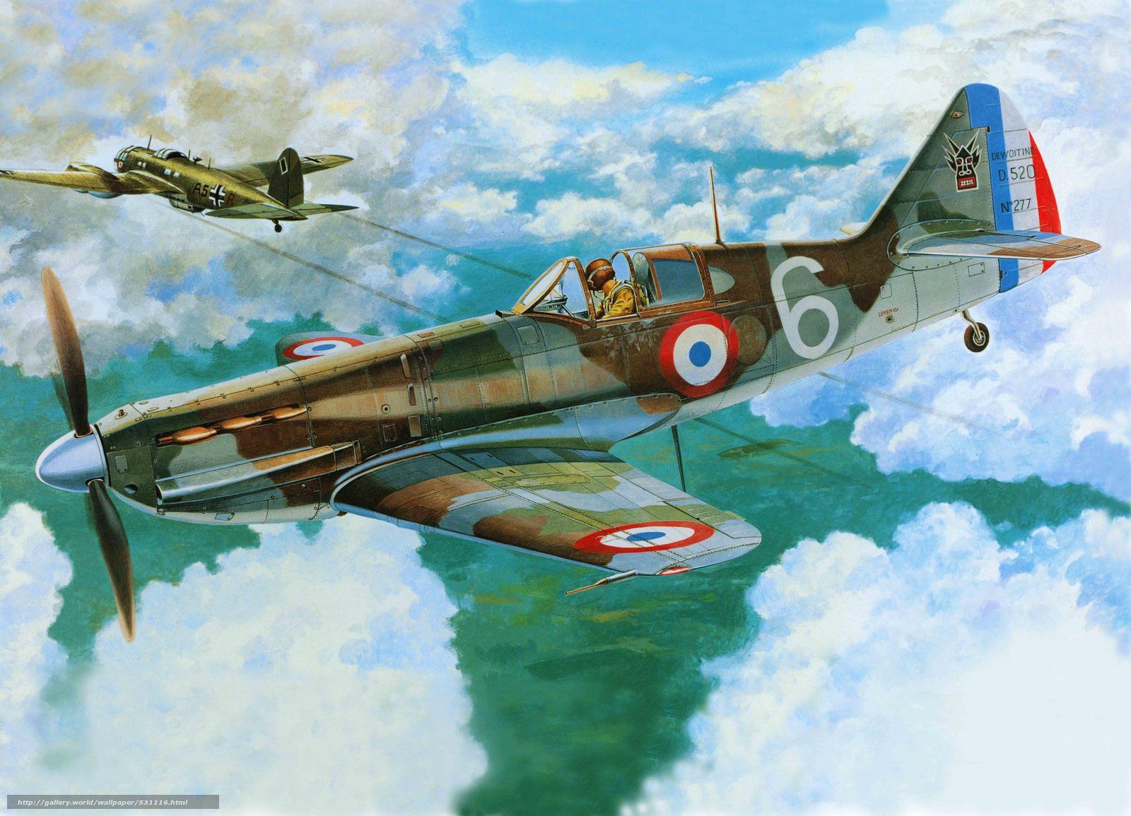 Скачать обои самолет,  французский,  арт,  истребитель бесплатно для рабочего стола в разрешении 7225x5216 — картинка №531116