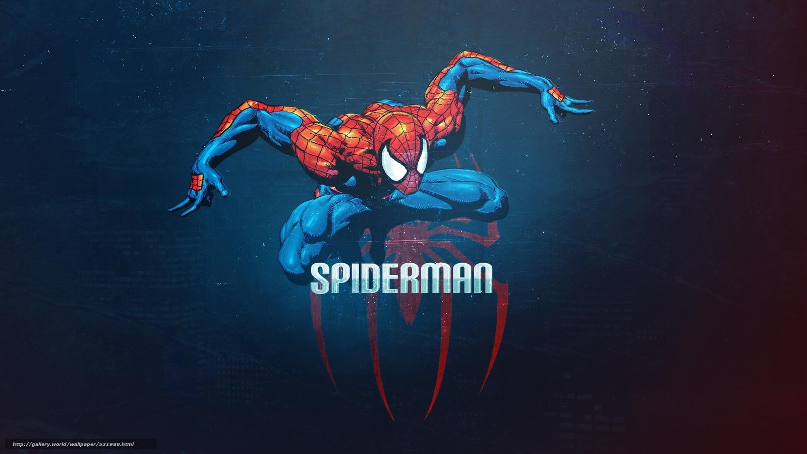 Скачать обои spiderman,  человек-паук,  spider-man,  супергерой бесплатно для рабочего стола в разрешении 1920x1080 — картинка №531988