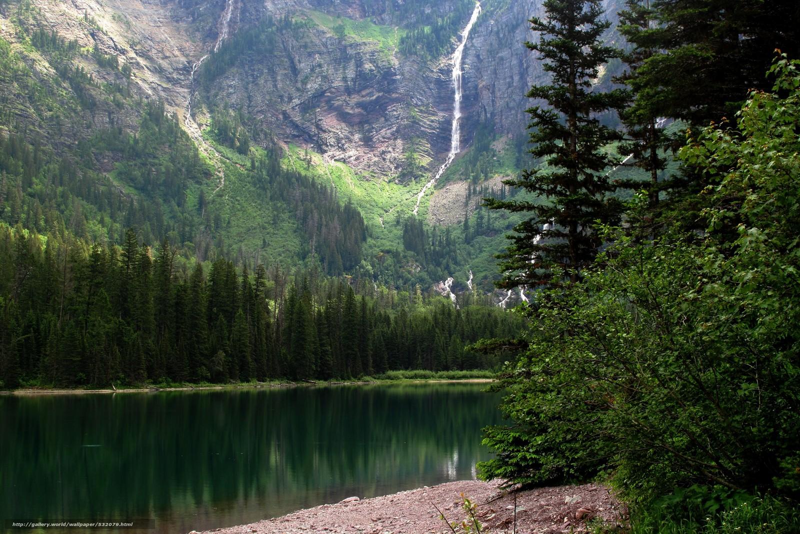 Скачать обои горы,  река,  деревья,  пейзаж бесплатно для рабочего стола в разрешении 4416x2950 — картинка №532079