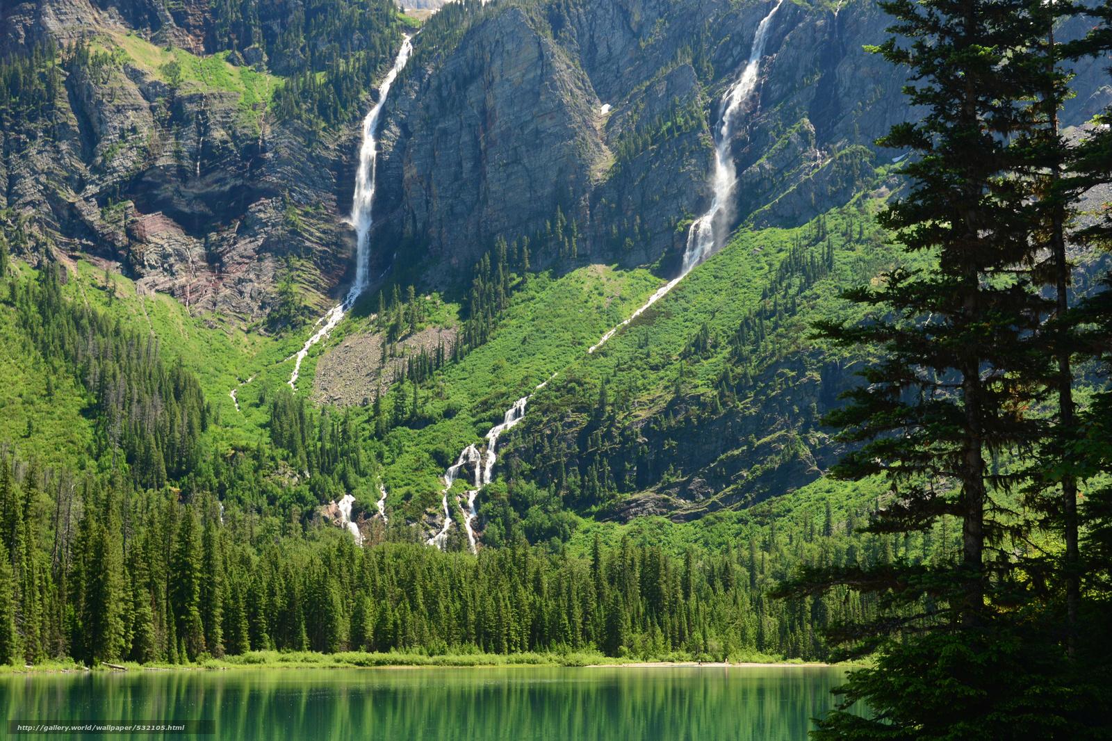 Скачать обои avalanche lake,  glacier national park,  montana,  Глейшер бесплатно для рабочего стола в разрешении 2048x1365 — картинка №532105