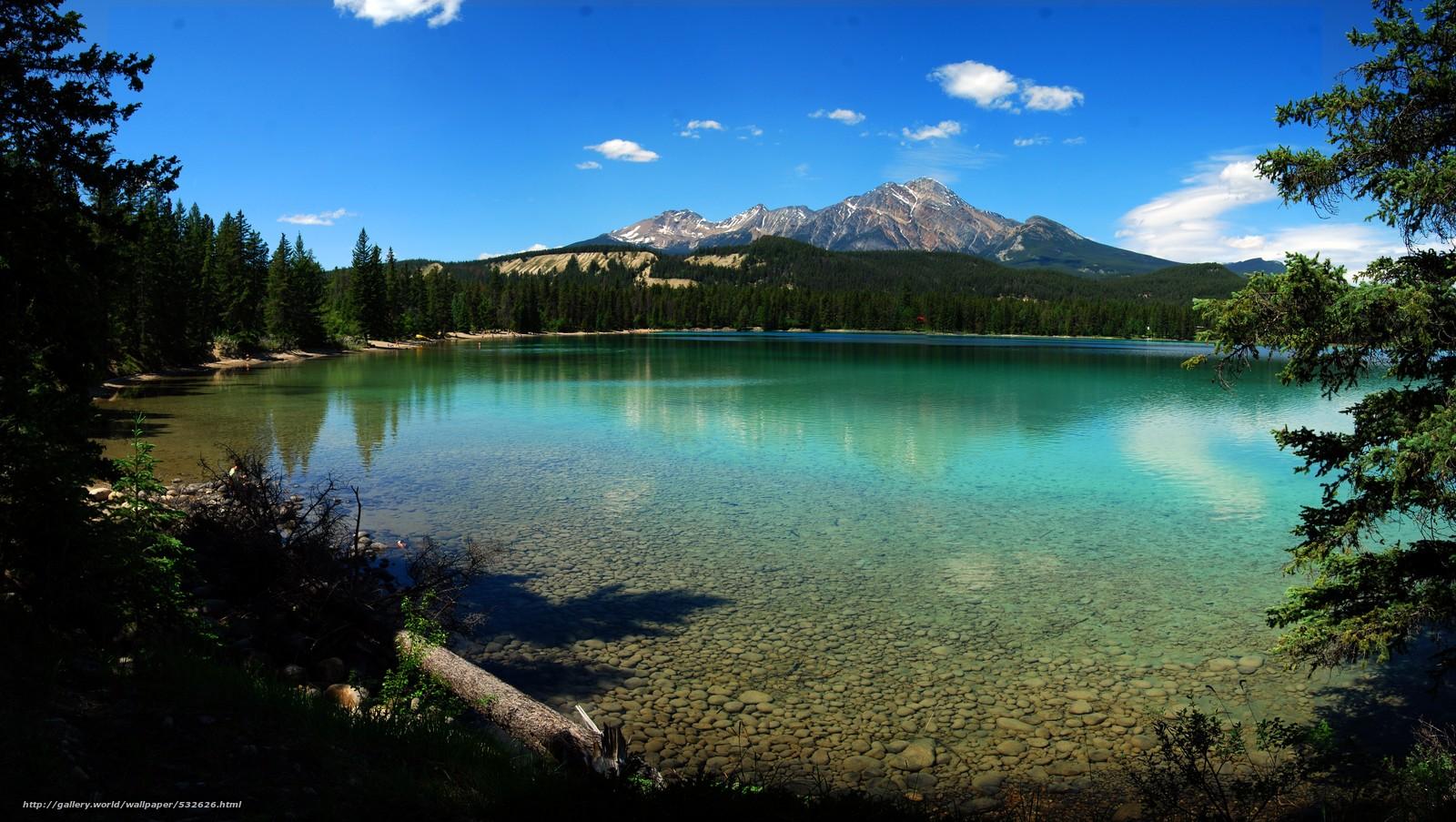 scaricare gli sfondi lago edith,  Parco nazionale Jasper,  alberta,  Canada Sfondi gratis per la risoluzione del desktop 6458x3645 — immagine №532626