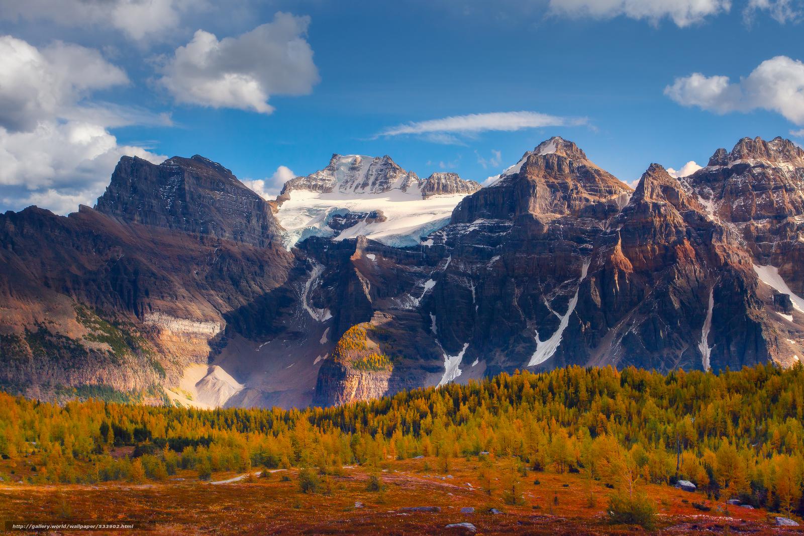 scaricare gli sfondi traccia valle larice,  Moraine Lake,  Parco Nazionale di Banff,  alberta Sfondi gratis per la risoluzione del desktop 3000x2000 — immagine №533902