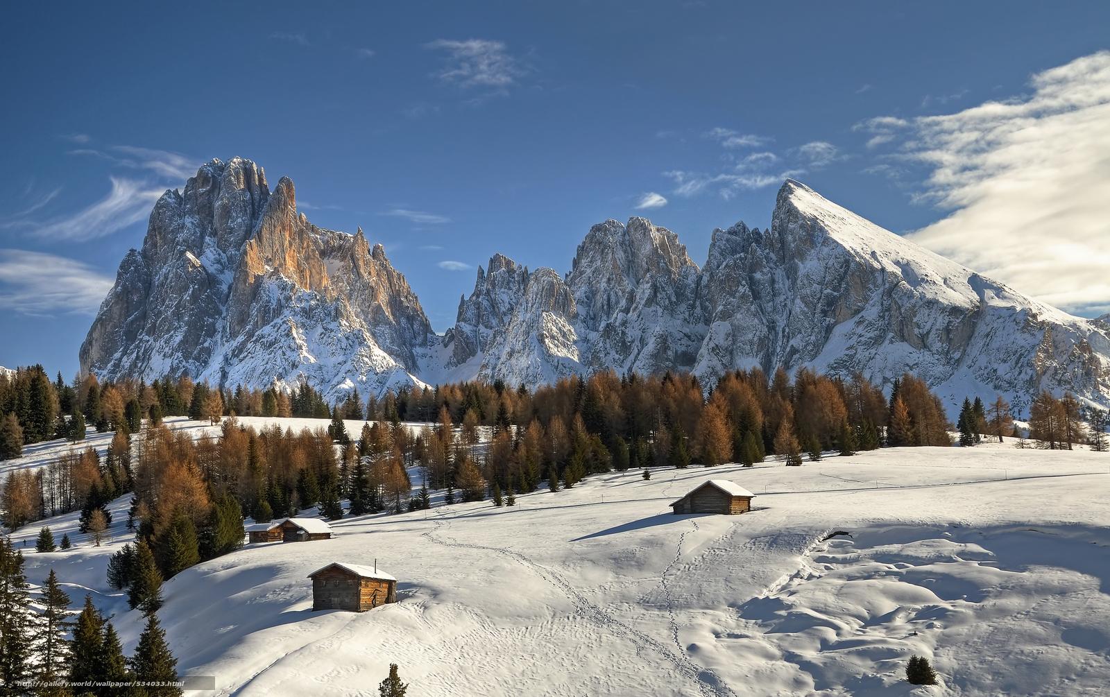 Scaricare Gli Sfondi Picco Sassolungo Dolomiti Alto Adige Sfondi