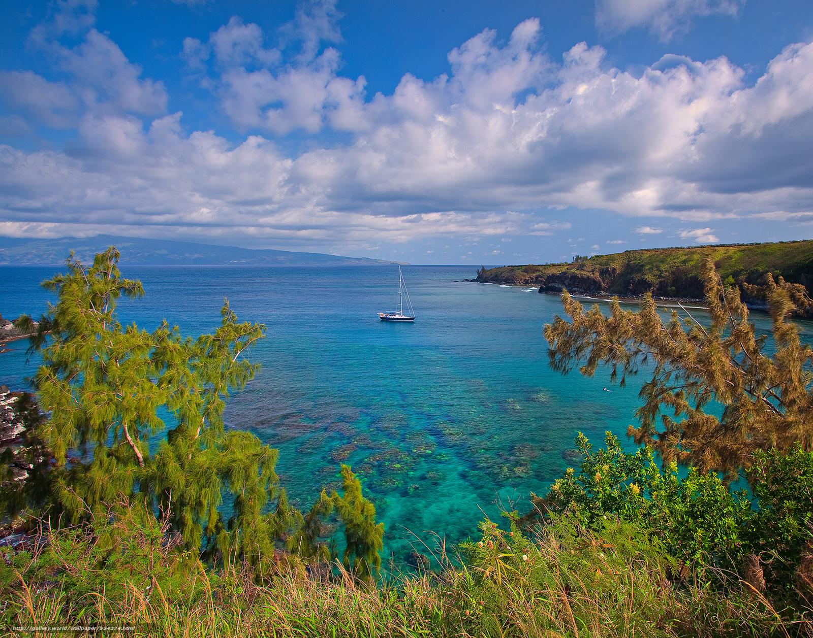 scaricare gli sfondi paradiso - baia honolua,  maui,  Hawaii Sfondi gratis per la risoluzione del desktop 3000x2357 — immagine №534274