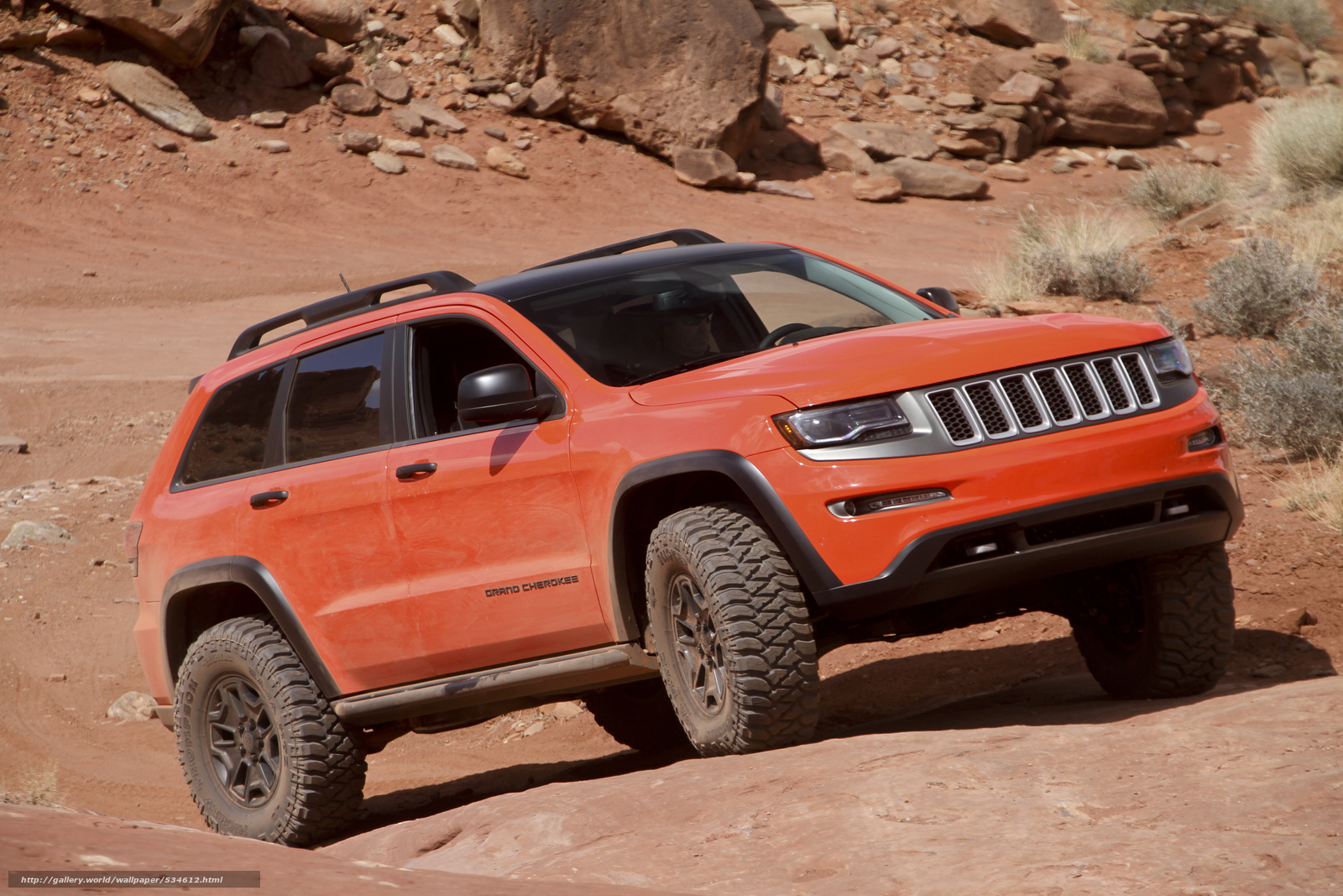 Download wallpaper 2014,  jeep grand cherokee,  trailhawk free desktop wallpaper in the resolution 2800x1867 — picture №534612