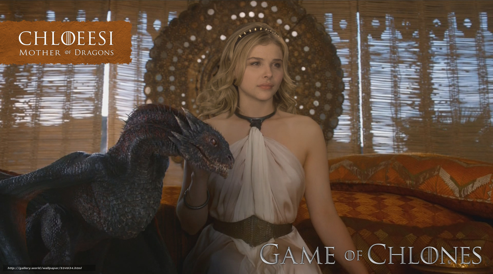 Download wallpaper Chloe Moretz,  Game of Thrones,  blond of dragon free desktop wallpaper in the resolution 1920x1069 — picture №534934
