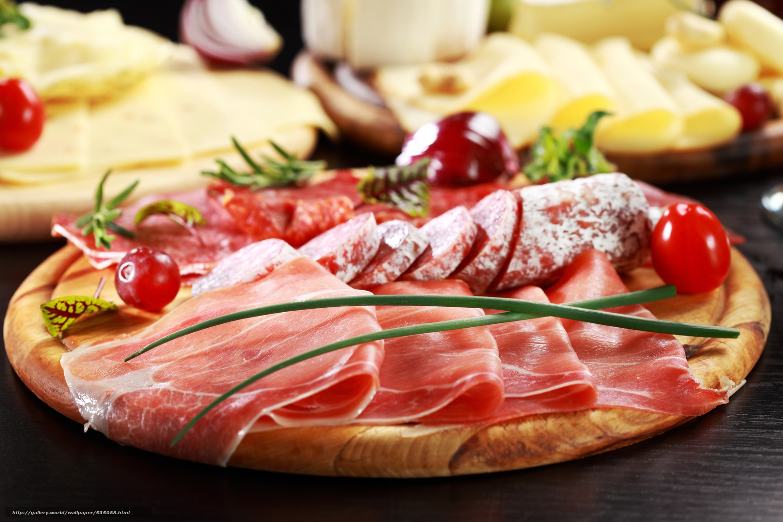 Download wallpaper sausage,  salmon,  meat,  cheese free desktop wallpaper in the resolution 5906x3937 — picture №535088
