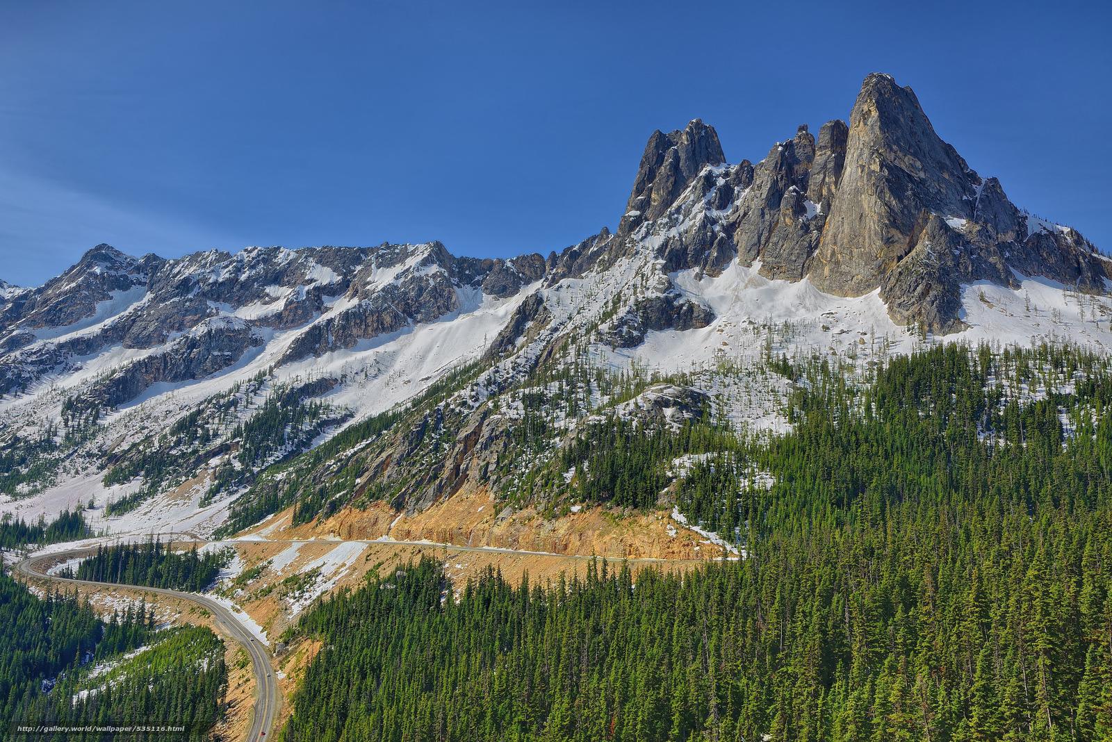 scaricare gli sfondi Liberty Bell Curve,  North Cascades,  Washington,  USA Sfondi gratis per la risoluzione del desktop 2048x1367 — immagine №535116