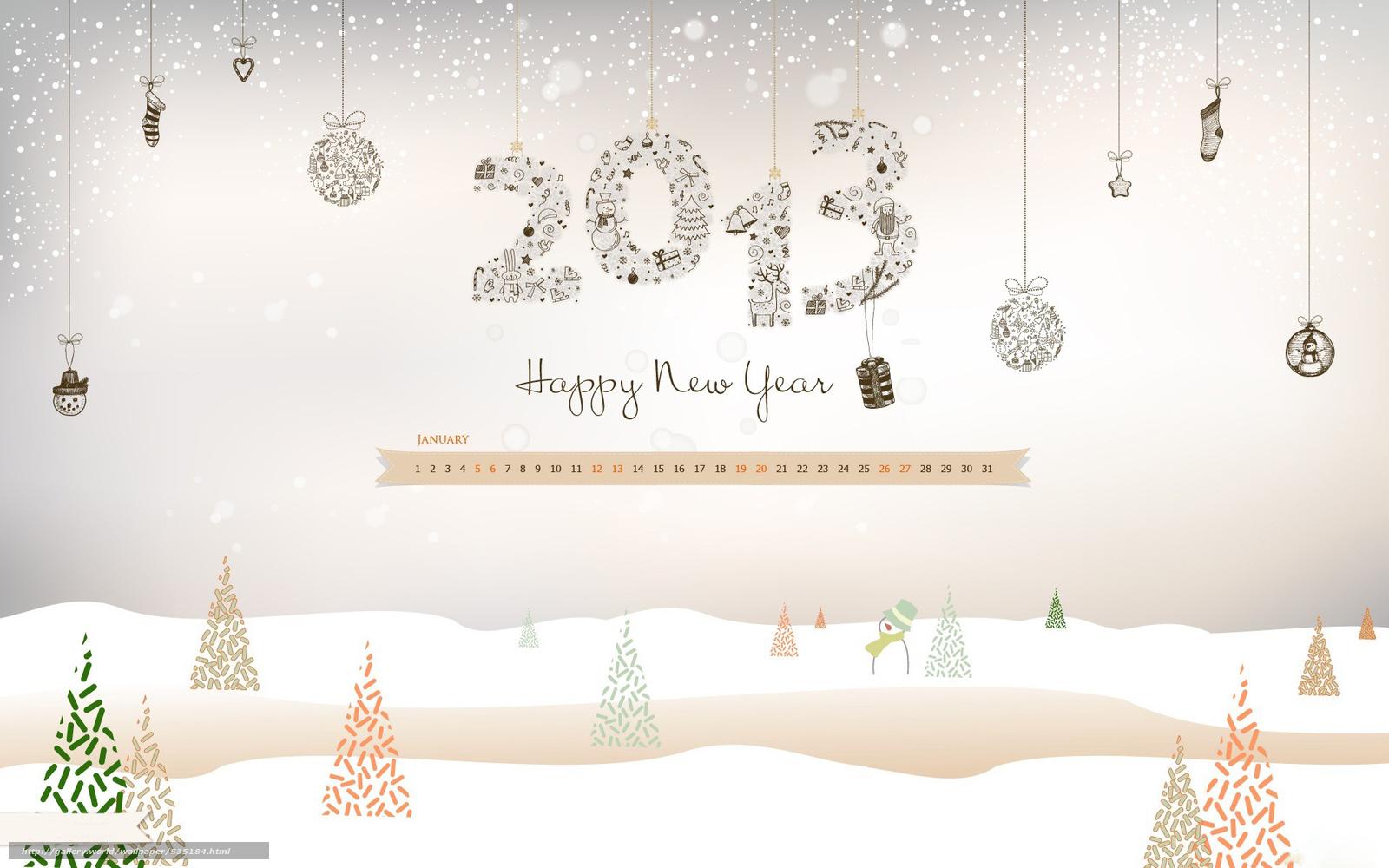 Скачать обои январь,  календарь,  елка,  снег бесплатно для рабочего стола в разрешении 1920x1200 — картинка №535184