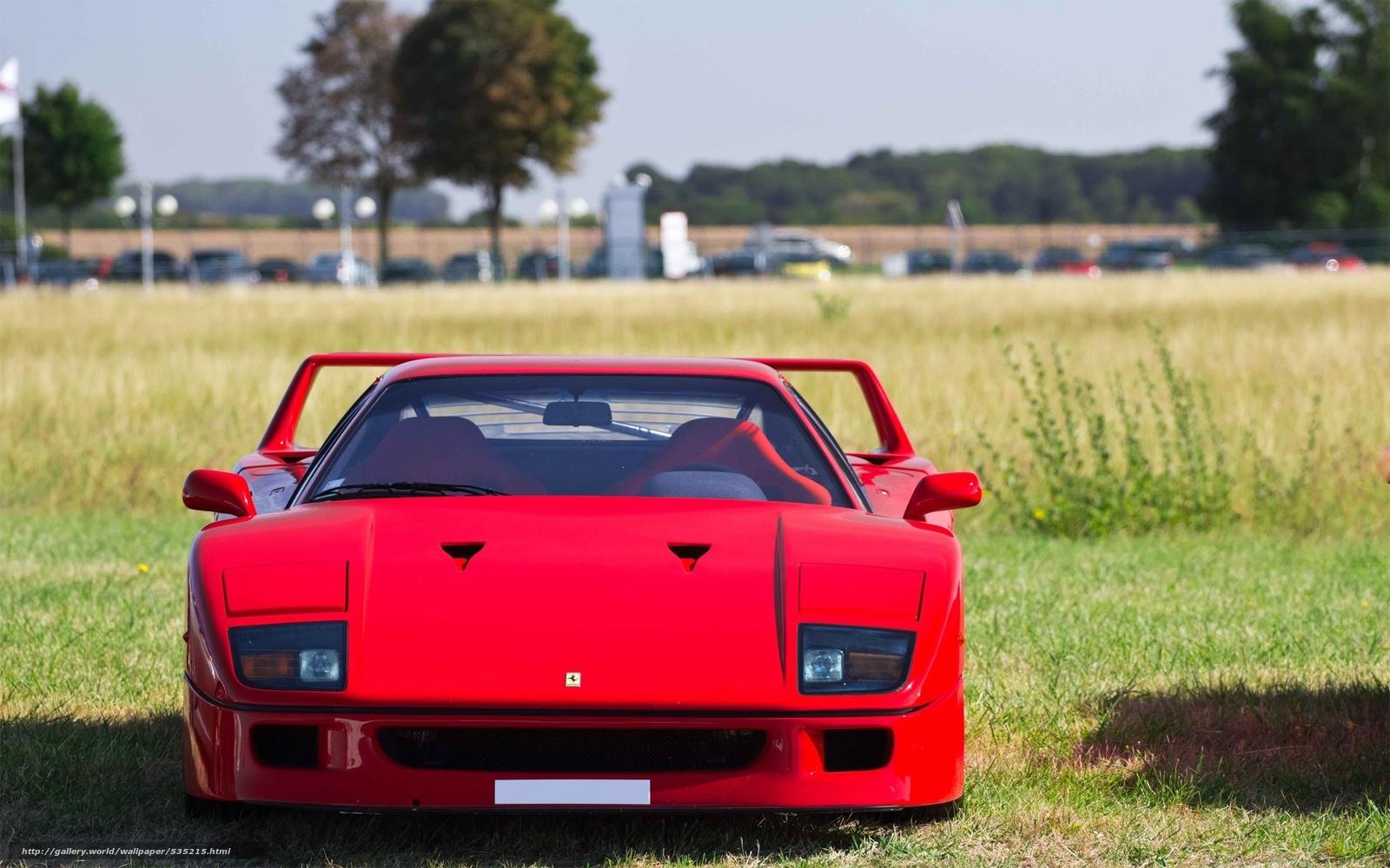 Baixar Wallpaper Ferrari,  vermelho,  rua,  LUZES Papis de parede grtis na resoluo 2560x1600 — quadro №535215
