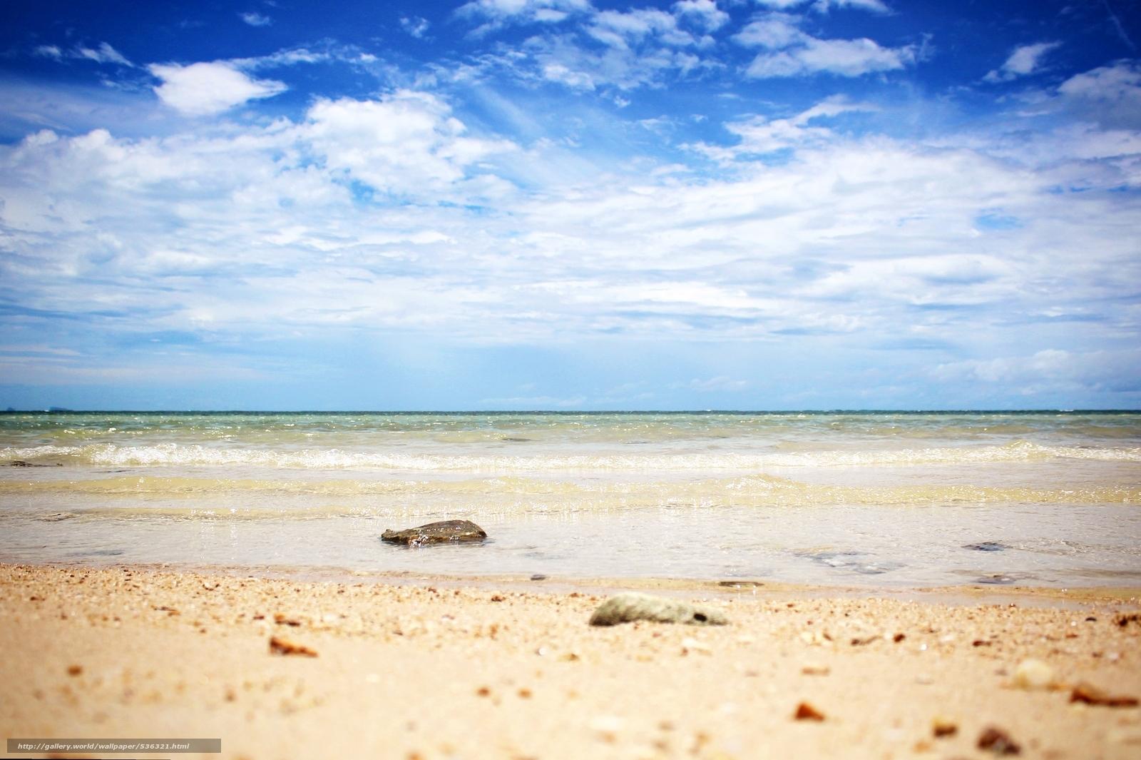 Скачать обои море,  горизонт,  небо,  камни бесплатно для рабочего стола в разрешении 2400x1598 — картинка №536321