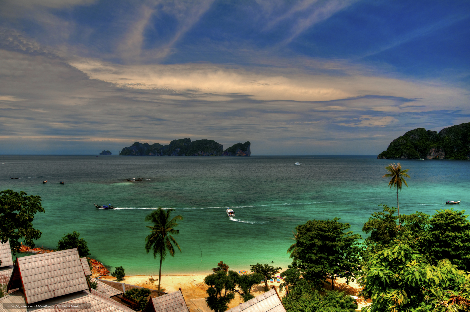 Download wallpaper Paradise View,  Koh Phi Phi Don,  Thailand free desktop wallpaper in the resolution 4288x2848 — picture №536925