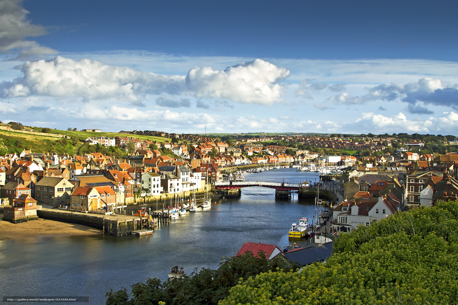 Download wallpaper Whitby, North Yorkshire, england free desktop wallpaper in the resolution 3597x2398 — picture №537058