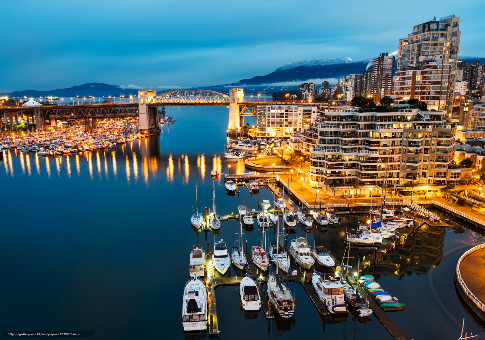 Download wallpaper Blue Vancouver Morning,  Granville Island,  Vancouver,  British Columbia free desktop wallpaper in the resolution 5389x3780 — picture №537911